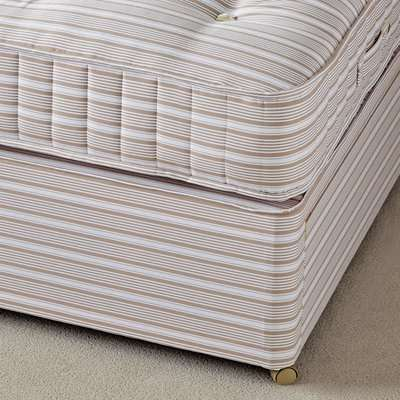Single Divan Bed Base with Drawers - Natural