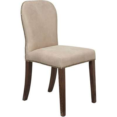 Stafford Leather Dining Chair - China Clay