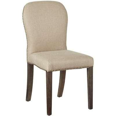 Stafford Linen Chair - Sand Wide Herringbone