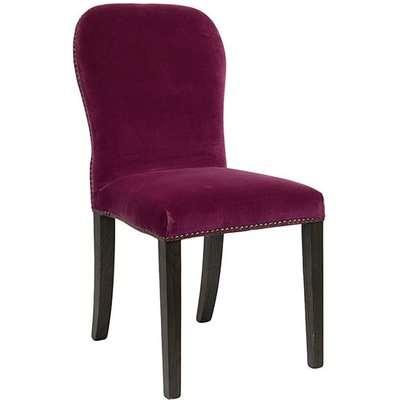 Stafford Velvet Chair - Raspberry