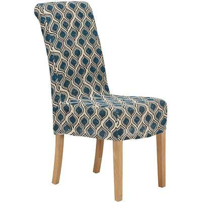 Upolu Linen Slip Cover For Echo Dining Chair - Blue
