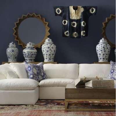Andrew Martin Truman Junior Sectional Sofa White / Corner