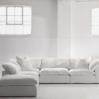 Andrew Martin Truman Sectional Sofa White / Armless