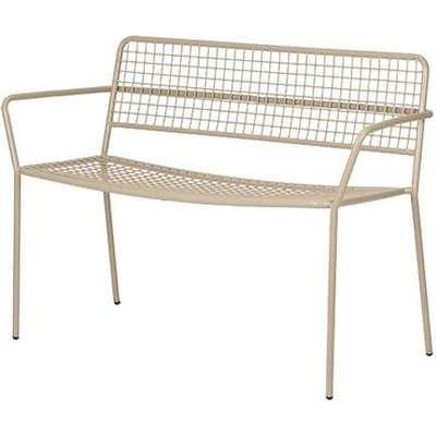 Broste Copenhagen Gerda Outdoor Bench Simply Taupe Warm Grey