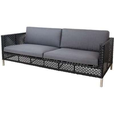 CANE-LINE Connect 3-seater Sofa Outdoor Cushion Set Grey