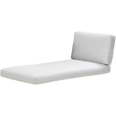 CANE-LINE Connect Chaise longue Outdoor Cushion Set Natte White
