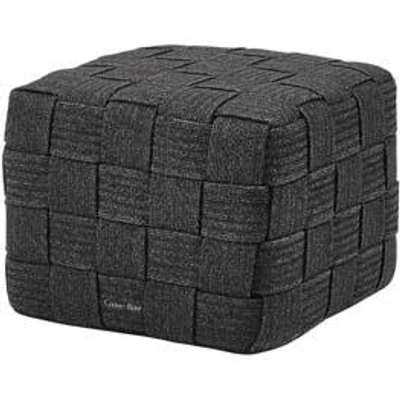 CANE-LINE Cube Outdoor Footstool Soft Rope Dark Grey
