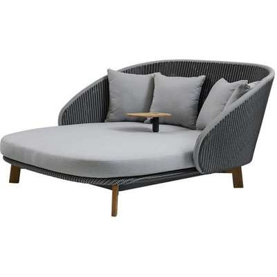 Cane-line Peacock Including Table Grey Light Grey Outdoor Daybed