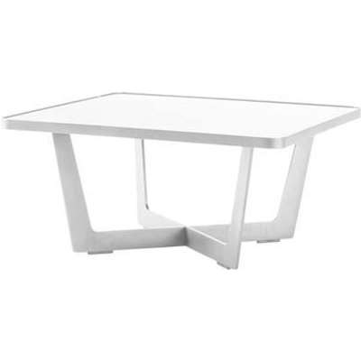 CANE-LINE Time-out Outdoor Coffee Table Small Aluminium White