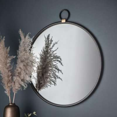 Gallery Direct Bayswater Black Round Mirror