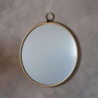 Gallery Direct Bayswater Gold Round Mirror