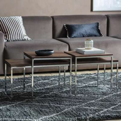 Gallery Direct Bletchley Walnut Nest of Coffee Table
