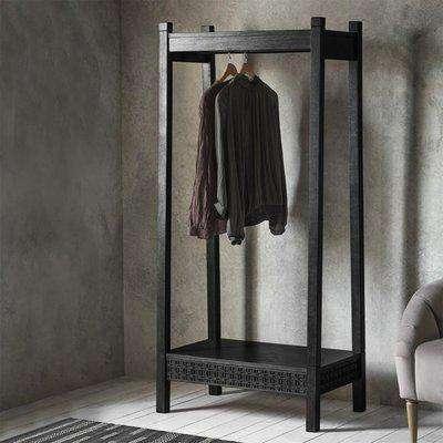 Gallery Direct Boho Boutique Open Wardrobe Black