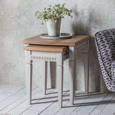 Gallery Direct Bronte Nest of 2 Tables in Taupe