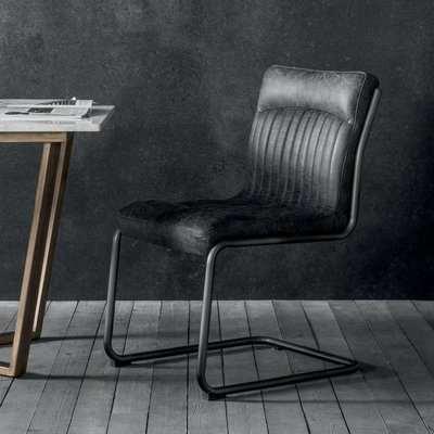 Gallery Direct Capri Leather Chair Antique Ebony