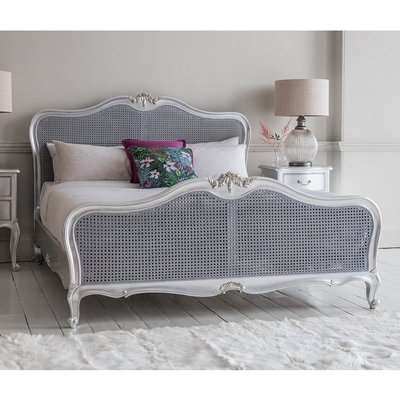 Gallery Direct Chic Cane King Size Bed in Off White