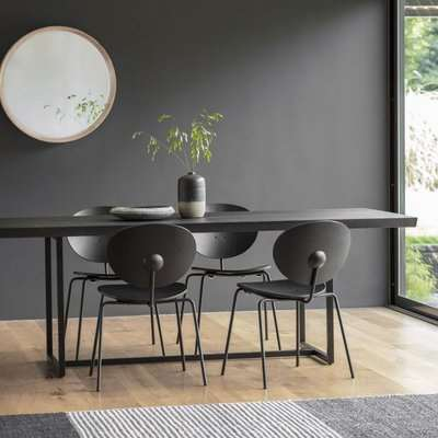 Gallery Direct Forden Dining Table Black   Outlet