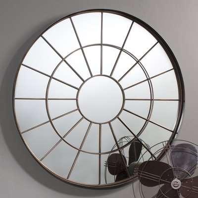 Gallery Direct Battersea Industrial Round Window Pane Mirror