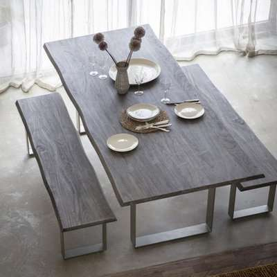 Gallery Direct Huntington Large 8 - 10 Seater Dining Table Grey