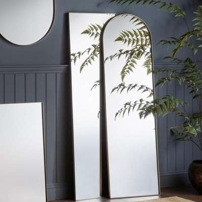 Gallery Direct Hurston Arch Silver Full Length Mirror | Outlet