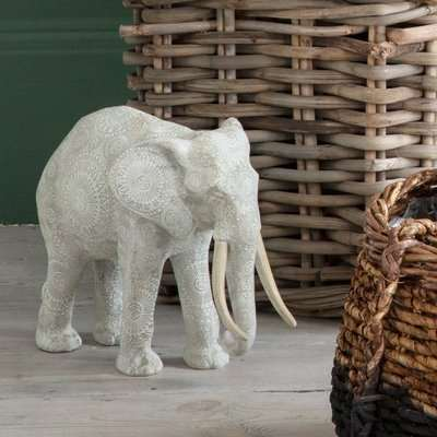 Gallery Direct Mandal White Elephant Sculpture