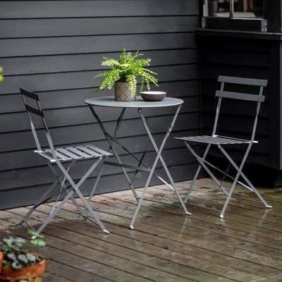 Gallery Direct Montoro Charcoal Outdoor Bistro Set | Outlet