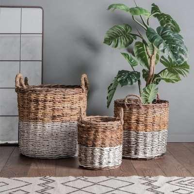 Gallery Direct Ramon Set of 3 Baskets / White