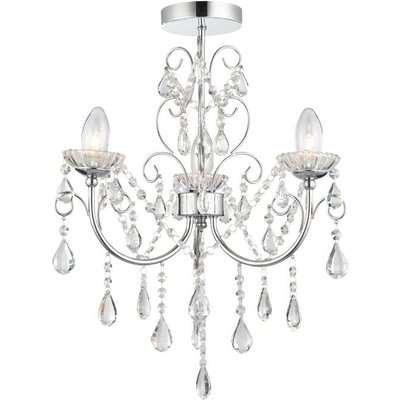 Gallery Direct Tabitha Chandelier / White / 5