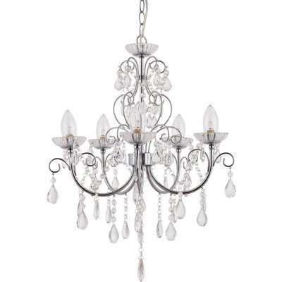 Gallery Direct Tabitha Chandelier / White / 8