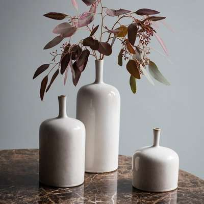Gallery Direct Vormark Set of 3 Ornamental Vases in Natural