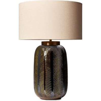 Heathfield & Co Fern Khaki Table Lamp