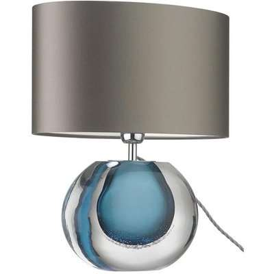 Heathfield & Co Gaia Blue Table Lamp