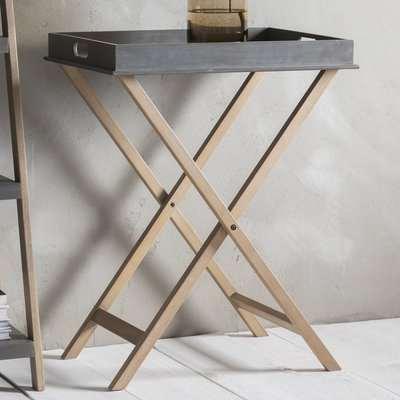 Hudson Living Kipling Butlers Tray Concrete Side Table