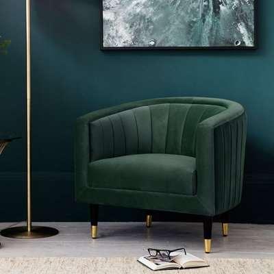 Hudson Living Serrano Mallard Velvet Occasional Chair / Blue