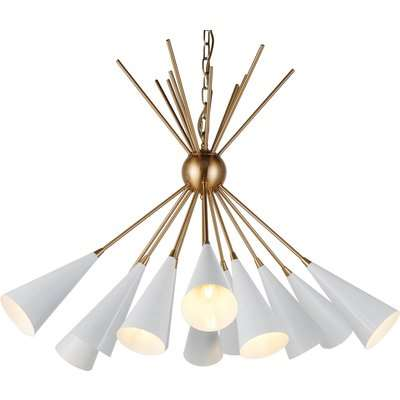Liang & Eimil Bouquet Pendant Lamp Brass and White Finish