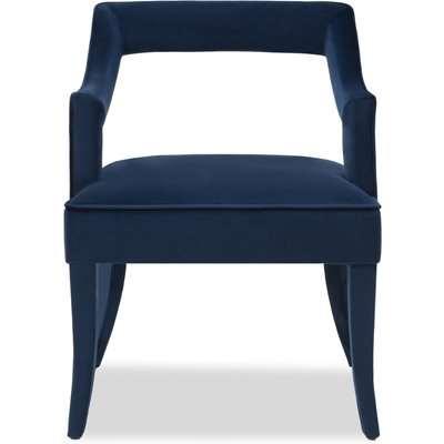 Liang & Eimil Calvin Dining Chair Marine Blue Velvet