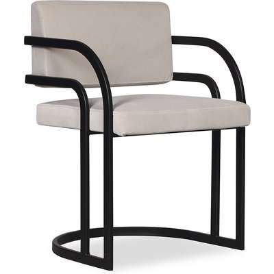 Liang & Eimil Dylan Dining Chair Gainsborough Mink Velvet Polished Brass