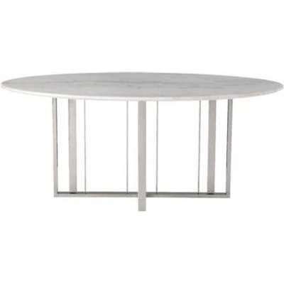 Liang & Eimil Fenty Dining Table Polished Stainless Steel