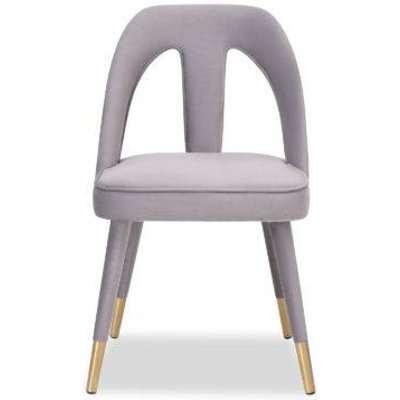 Liang & Eimil Pigalle Chair Kaster Light Grey Velvet