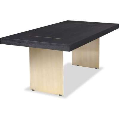 Liang & Eimil Unma Dining Table Black Ash (Brushed Stainless Steel Legs)