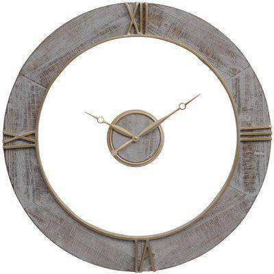 Libra Grey Floating Wall Clock | Outlet