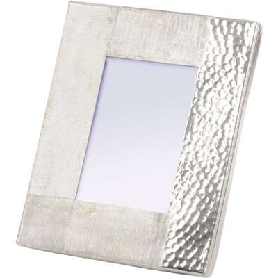 Libra Fuse 5x7 Inch Photo Frame Hammered and Brushed Silver Finish