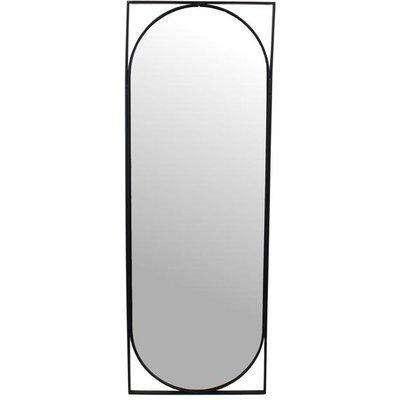 Libra Isaac Metal Black Oval Full Length Mirror / Medium