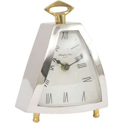 Libra Isosceles Curved Front Mantel Clock