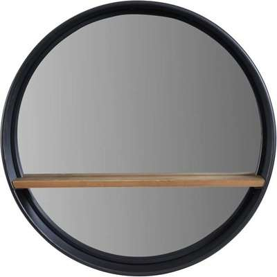 Libra Kempsey With Wooden Shelf Wall Mirror