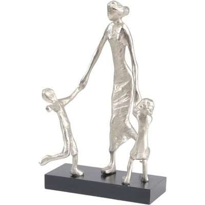 Libra Mother Playing with Children Sculpture