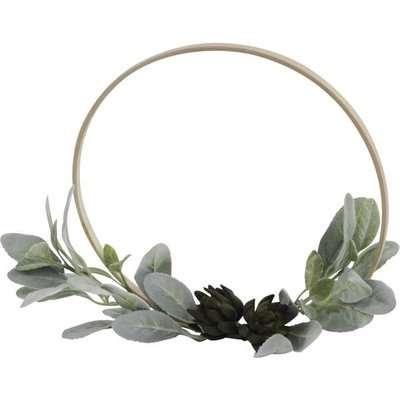 Libra Ornamental Succulent on Bamboo Ring / Natural / Small