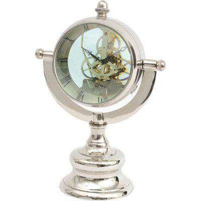 Libra Oversized Nickel Table Clock