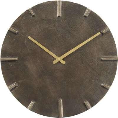 Libra Slate Effect Aluminium Wall Clock