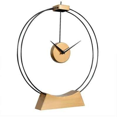 Libra Tillington Skeleton Black And Gold Mantel Clock | Outlet